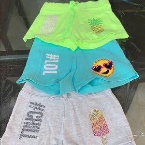 Justice size 7 set of shorts